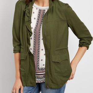 Maurices Ruffled Front Anorak Jacket